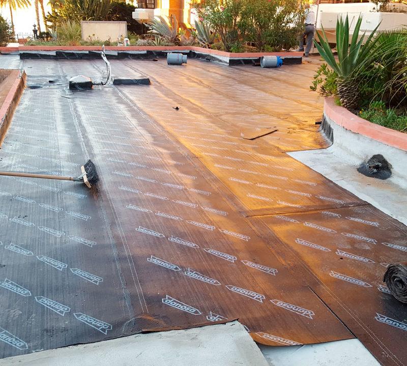 Reparación e impermeabilización de cubierta en Málaga